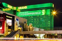 El hotel y el casino de Mgm Grand en Las Vegas, fotografía de archivo