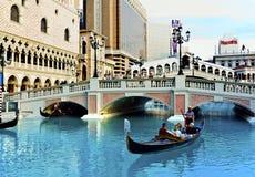 El hotel y el casino venecianos de centro turístico fotografía de archivo libre de regalías
