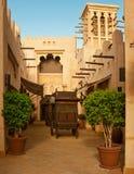 El hotel y el distrito famosos del turista de Madinat Jumeirah Imagen de archivo