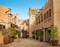 El hotel y el distrito famosos del turista de Madinat Jumeirah Foto de archivo libre de regalías