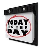 El hoy es el día - calendario de pared Imagenes de archivo