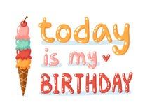 El hoy es mi cumpleaños Fotos de archivo