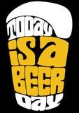 El hoy es un día de la cerveza ilustración del vector
