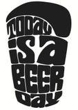 El hoy es un día de la cerveza imagen de archivo