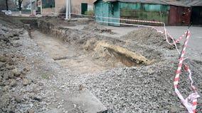 El hoyo cavó al papeleo protector metrajes