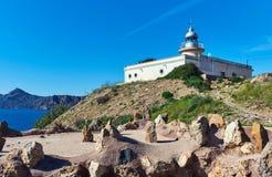 EL Hoyo de phare dans le village de Portman, Espagne Images libres de droits