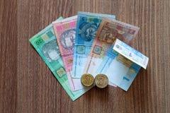 El hryvnia ucraniano de la moneda Fotografía de archivo libre de regalías