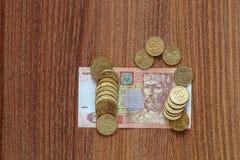 El hryvnia ucraniano de la moneda Fotografía de archivo