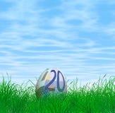 Huevo de Pascua euro de la moneda Fotos de archivo libres de regalías