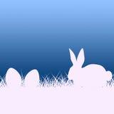 El huevo de Pascua representa a Bunny Rabbit And Copy Fotos de archivo libres de regalías