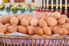 El huevo fresco para hizo mucha comida Imagen de archivo