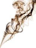 El humo abstracto remolina sobre blanco Imagenes de archivo