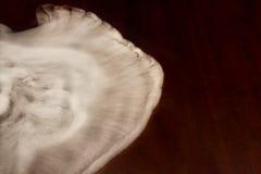 El humo blanco remolina en una tabla vieja Imagen de archivo libre de regalías