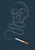 El humo del cigarrillo Imagen de archivo libre de regalías