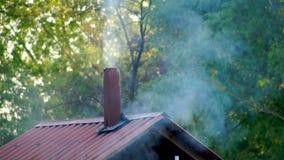 El humo sale del tubo almacen de video