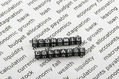 El hundimiento de la economía Foto de archivo libre de regalías