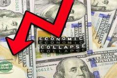 El hundimiento de la economía Fotos de archivo