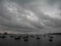 El huracán Irene se acerca al puerto de Boston Imagen de archivo libre de regalías
