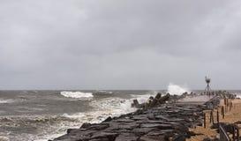 El huracán Sandy se acerca a la orilla de New Jersey Imágenes de archivo libres de regalías
