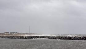El huracán Sandy se acerca a la orilla de New Jersey Fotografía de archivo