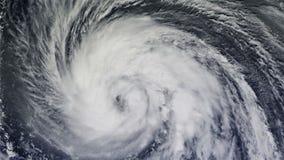 El huracán sobre el océano , visión por satélite stock de ilustración