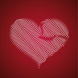 El icono abstracto del corazón, onda alinea vector Imágenes de archivo libres de regalías