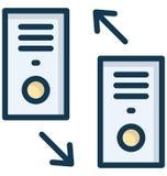 El icono aislado las llamadas marcado y recibido del vector que puede modificar o corregir f?cilmente llamadas marcadas y recibid stock de ilustración