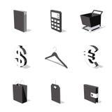 El icono blanco 3D fijó 06 Imágenes de archivo libres de regalías
