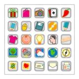 El icono coloreado fijó 3 - Version2 Fotografía de archivo libre de regalías