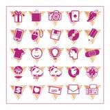 El icono coloreado fijó 3 - Version3 Imágenes de archivo libres de regalías