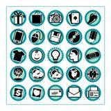 El icono coloreado fijó 3 - Version4 Imágenes de archivo libres de regalías