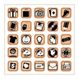 El icono coloreado fijó 3 - Version5 Imagen de archivo