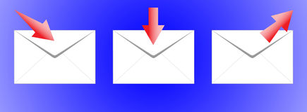El icono-correo. Imagen de archivo