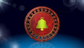El icono de Bell, canta, el ejemplo 3D Imagenes de archivo