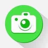 El icono de la cámara grande para ningunos utiliza Vector eps10 Imágenes de archivo libres de regalías