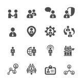 El icono de la gestión de recursos humanos fijó 5, vector eps10 Fotografía de archivo libre de regalías
