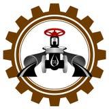 El icono de la industria de petróleo Imágenes de archivo libres de regalías
