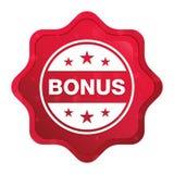 El icono de la insignia de la prima brumoso subió botón rojo de la etiqueta engomada del starburst ilustración del vector