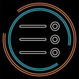 El icono de la lista - opciones contentas de la visión, símbolo de la lista - las opciones firma libre illustration