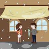 El icono de la lluvia del amor grande para ningunos utiliza Vector eps10 Foto de archivo