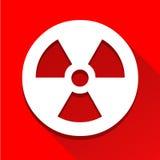 El icono de la muestra de la radiactividad grande para ningunos utiliza Vector eps10 Imagenes de archivo