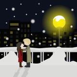 El icono de la nieve del amor grande para ningunos utiliza Vector eps10 Fotos de archivo