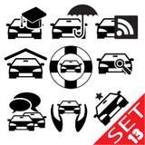 El icono de la pieza del coche fijó 13 Imagen de archivo