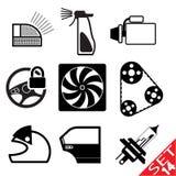 El icono de la pieza del coche fijó 14 Imagen de archivo libre de regalías