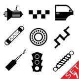El icono de la pieza del coche fijó 7 Imágenes de archivo libres de regalías