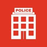 El icono de la policía Símbolo de la ley y de la autoridad plano stock de ilustración