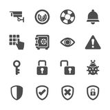 El icono de la seguridad fijó 2, vector eps10 Imagenes de archivo