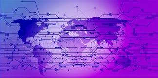 El icono de las conexiones de red global señala y alinea con estafa social libre illustration