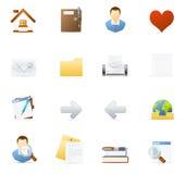 El icono de Vecto fijó - el Internet y Blogging 1 stock de ilustración