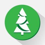 El icono del árbol de Cristmas grande para ningunos utiliza Vector eps10 Foto de archivo